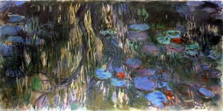 Claude Oscar Monet - Seerosen mit Weidenspiegelung