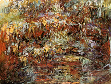 Claude Oscar Monet - Die japanische Brücke im Herbst