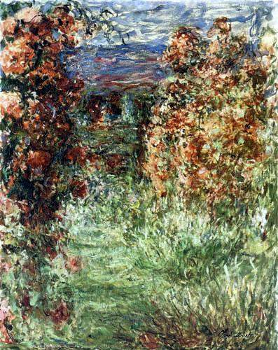 Claude Oscar Monet - The house behind the rose garden