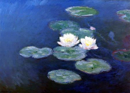 Claude Oscar Monet - Water Lilies Green-Blue