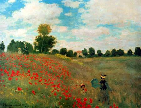 Claude Oscar Monet - Field of Poppies near Argenteuil
