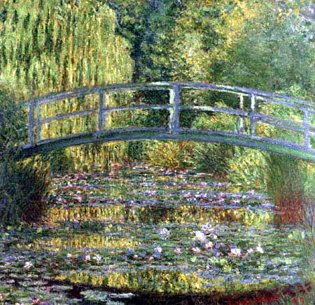 Claude Oscar Monet - Der Seerosenteich -Harmonie in Grün