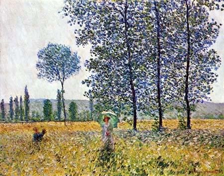 Claude Oscar Monet - Campos en pimavera