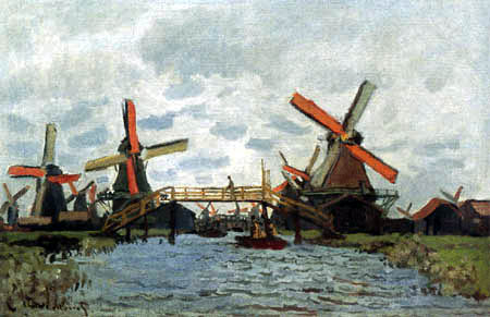 Claude Oscar Monet - Mill near Zaandam