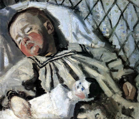 Claude Oscar Monet - Jean Monet, Sleeping