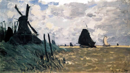 Claude Oscar Monet - Windmills in Zaandam