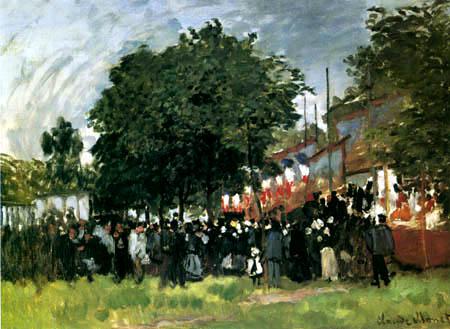 Claude Oscar Monet - A celebration in Argenteuil