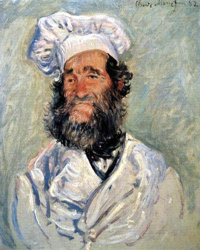 Claude Oscar Monet - Porträt Pere Paul, Der Koch