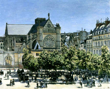 Claude Oscar Monet - Church St. Germain l´Auxerrois, Paris