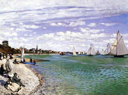 Claude Oscar Monet - Regatta bei Sainte-Adresse