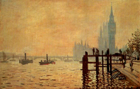 Claude Oscar Monet - The Thames and Westminster