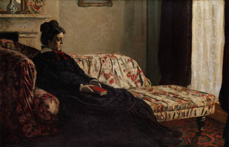 Claude Oscar Monet - Meditation, Madame Monet ruhend