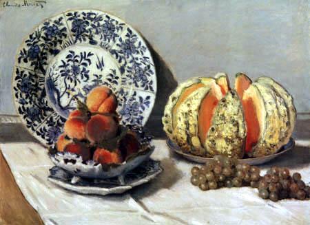 Claude Oscar Monet - Melonenstillleben