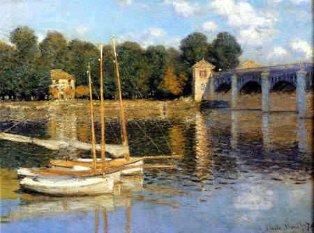 Claude Oscar Monet - Le pont de Argenteuil
