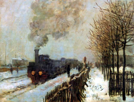 Claude Oscar Monet - Tren en la nieve