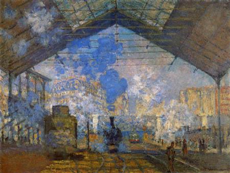 Claude Oscar Monet - Der Bahnhof Saint-Lazare