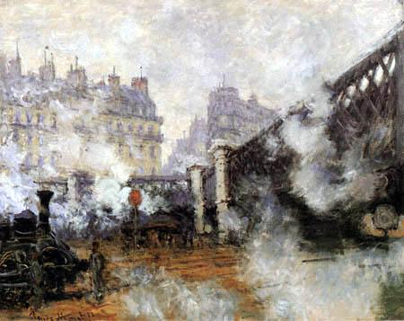 Claude Oscar Monet - El puente l` Europe, St. Lazare