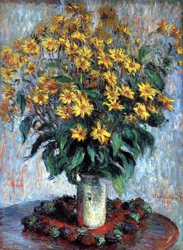 Claude Oscar Monet - Vase mit Chrysantemen