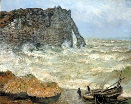 Claude Oscar Monet - Rough Sea, Etretat