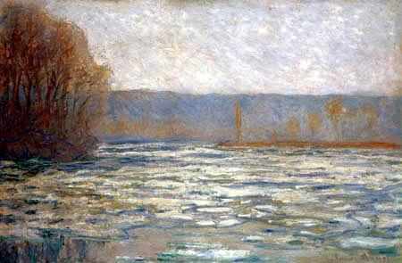 Claude Oscar Monet - Gebrochenes Eis auf der Seine