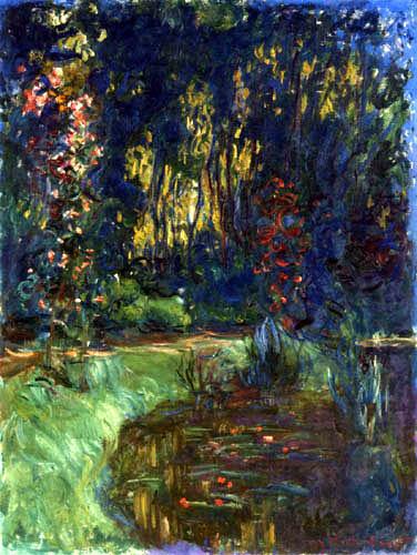 Claude Oscar Monet - Am Rande des Seerosenteiches, Giverny
