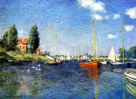 Claude Oscar Monet - Argenteuil mit Booten