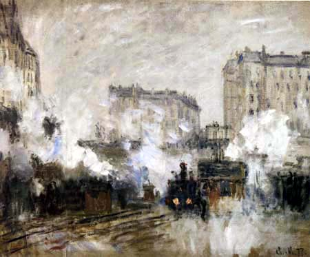 Claude Oscar Monet - Aussenseite des Bahnhofs Saint-Lazare