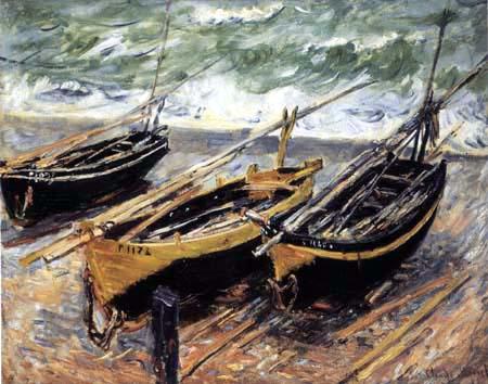 Claude Oscar Monet - Barken von Étretat