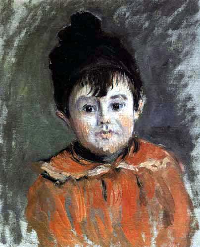 Claude Oscar Monet - Bildnis Michel Monet mit Bommelmütze
