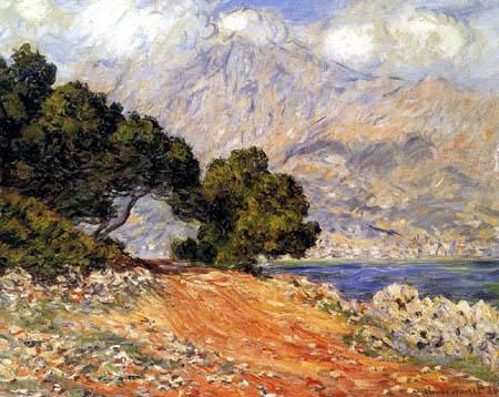Claude Oscar Monet - Menton vom Kap Martin aus