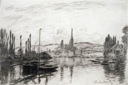 Claude Oscar Monet - Blick auf Rouen