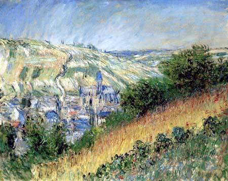 Claude Oscar Monet - Blick auf Vetheuil