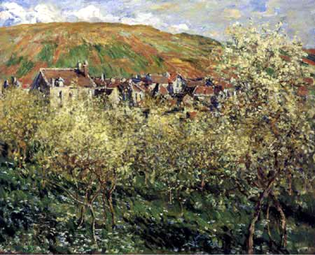 Claude Oscar Monet - Blühende Apfelbäume