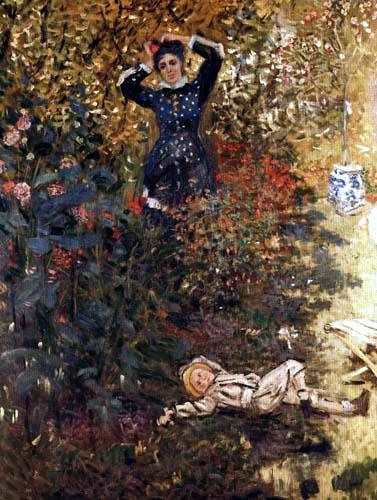 Claude Oscar Monet - Camille und Jean Monet im Garten von Argenteuil