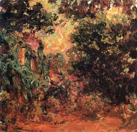Claude Oscar Monet - Das Haus hinter dem Rosengarten