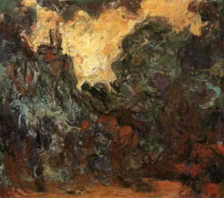 Claude Oscar Monet - Das Haus vom Rosengarten aus