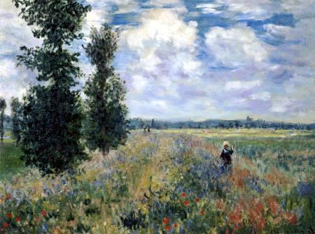 Claude Oscar Monet - Das Mohnfeld mit Figuren