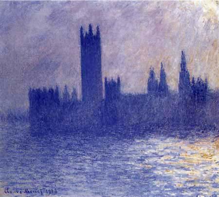 Claude Oscar Monet - Das Parlament im Sonnenlicht