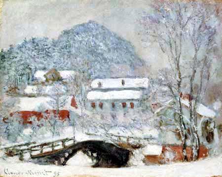 Claude Oscar Monet - Das Dorf Sandviken im Schnee
