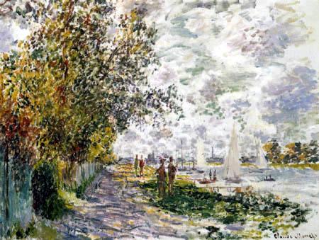 Claude Oscar Monet - Das Ufer der Seine bei Gennevilliers