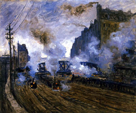 Claude Oscar Monet - Einfahrt Bahnhof Saint-Lazare