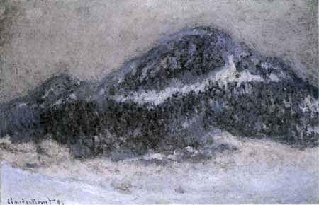 Claude Oscar Monet - Der Berg Kolsaas im Nebel