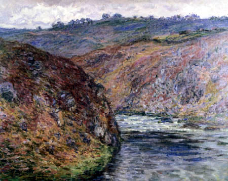 Claude Oscar Monet - Der Fluss Creuse, wolkiger Tag