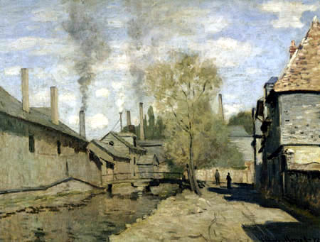 Claude Oscar Monet - Der Fluss Robec, Pouen