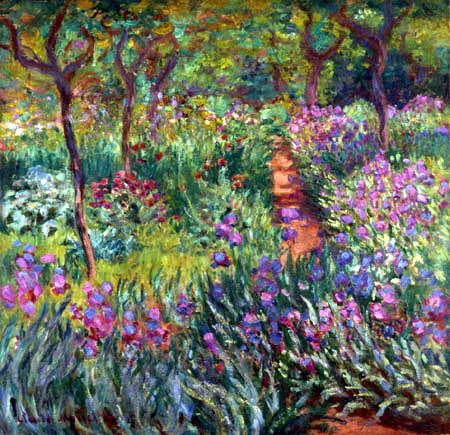 Claude Oscar Monet - Der Irisgarten in Giverny