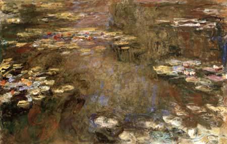 Claude Oscar Monet - Der Seerosenteich rötlich braun
