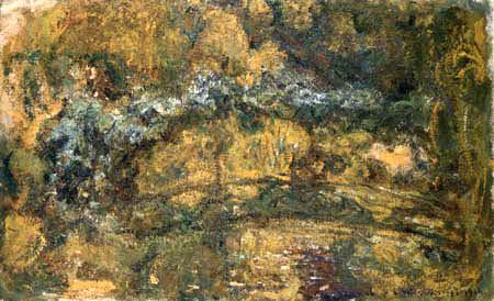 Claude Oscar Monet - Der Steg über den Seerosenteich