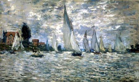 Claude Oscar Monet - Les bateaux, Régate à Argenteuil