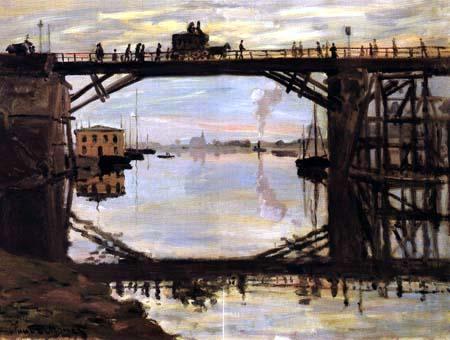 Claude Oscar Monet - Die Holzbruecke