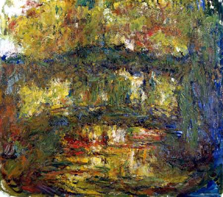 Claude Oscar Monet - Die Japanische Brücke grün